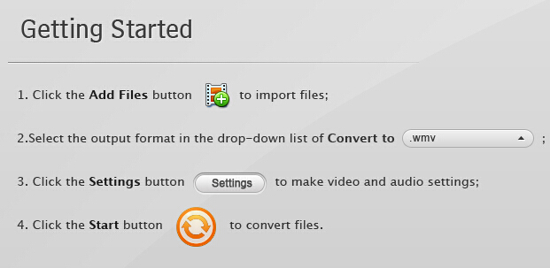 screenshot of how to use software avchd converter